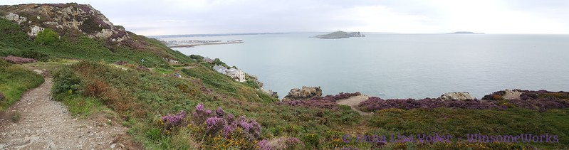 Panorama from Kilrock over Balscadden Bay