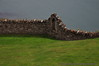 Beautiful stone fence seen from Harbour Rd on Howth Head, overlooking Balscadden Bay
