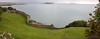 Pano - Beautiful stone fence seen from Harbour Rd on Howth Head, overlooking Balscadden Bay & Ireland's Eye