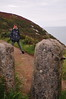 Xavier with posts (?) on Cliff Path above Balscadden Bay - Howth Head