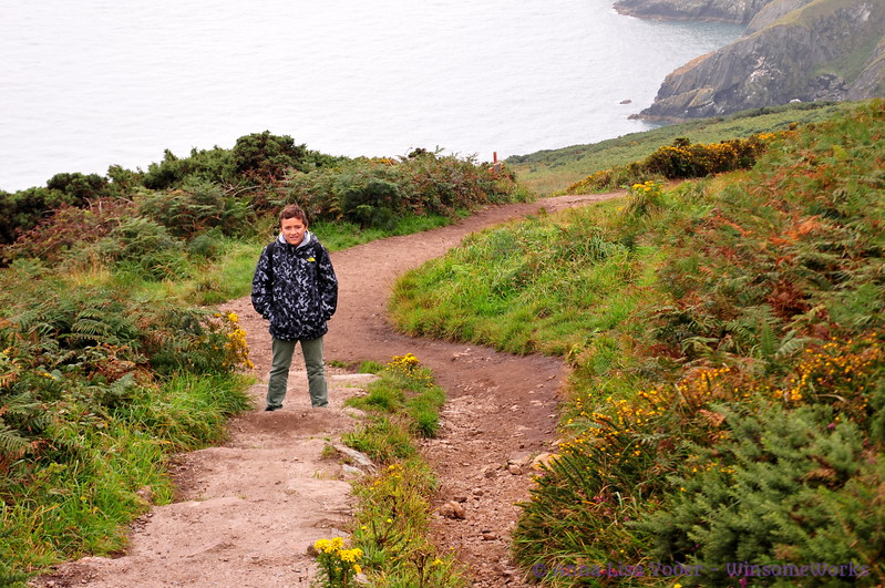 Xavier on Cliff Path on Howth