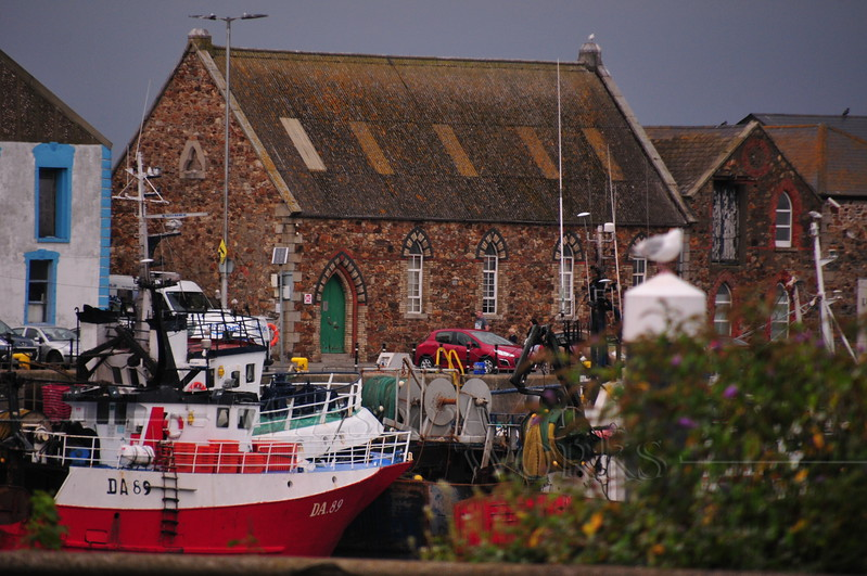 Boats & church on Howth Harbour