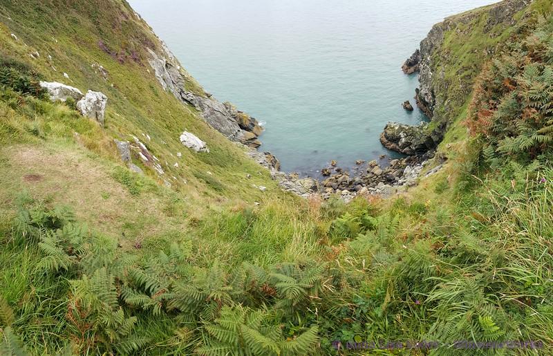 Pano - looking down at Balscadden Bay - Howth Head