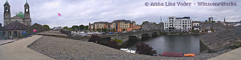 Panorama of Athlone from the castle wall