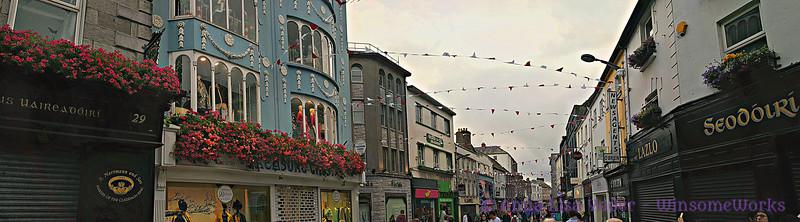 Galway city near dusk