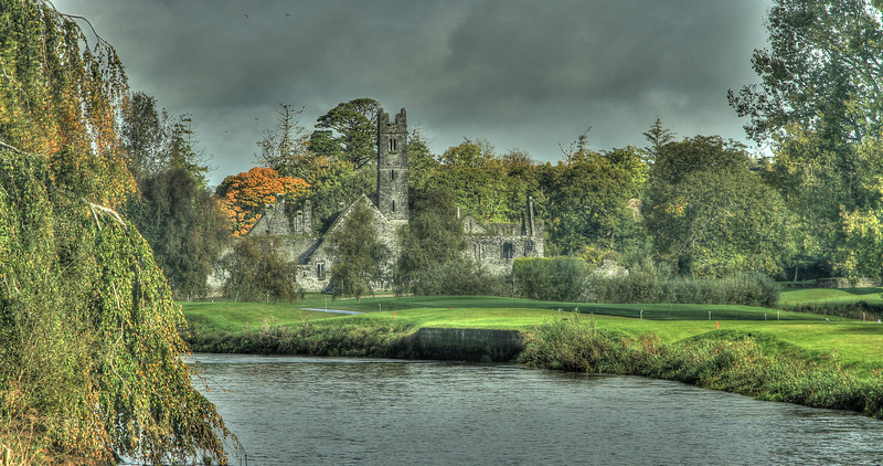 Old ruins on the grounds of Adare Manor