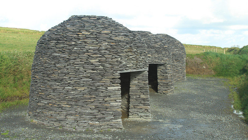 Monks lived in structures like this on the Skiliig Creig.