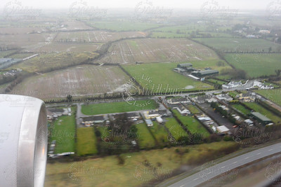 Flying into Dublin airport, looks wet glad we packed our boots!