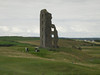 Ruined tower on golf course, Ireland.