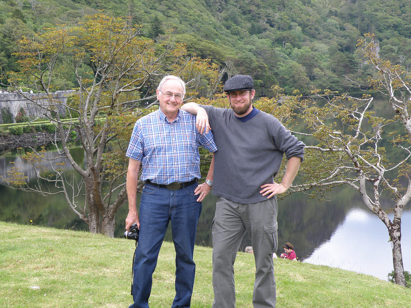Brian and Patrick at Kylemore Abbey