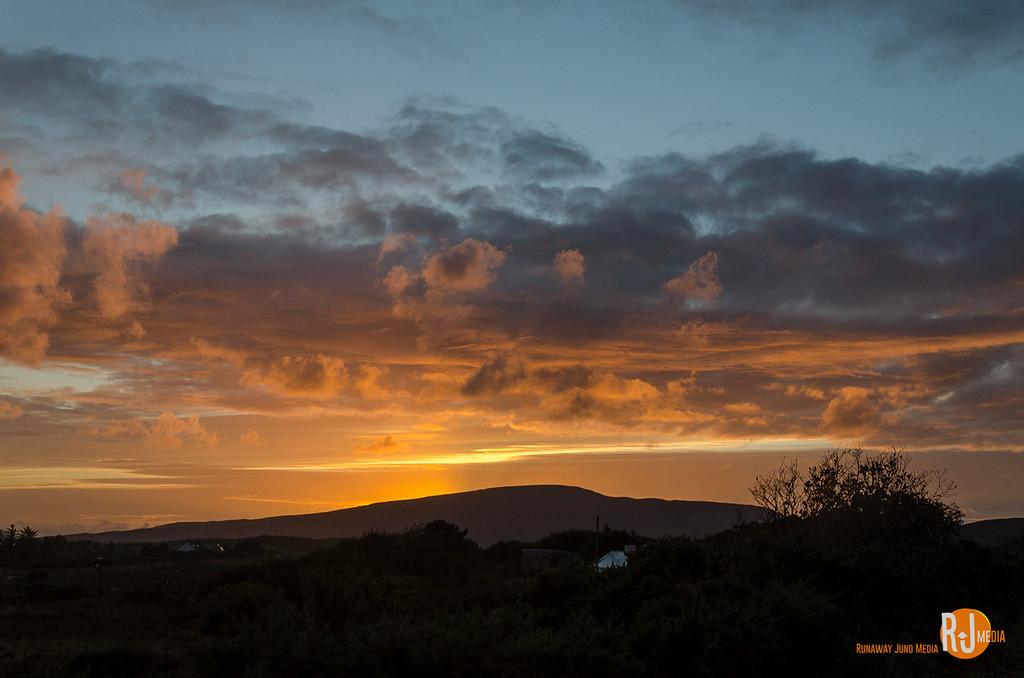 Sun is setting over Mulranny