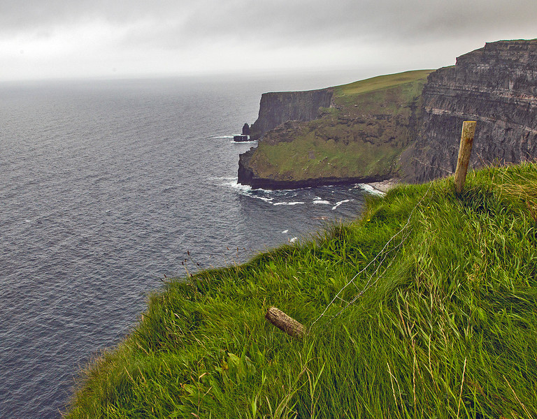 The steep Cliffs of Moher.