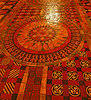 Elaborate floor tiles at Christ Church.