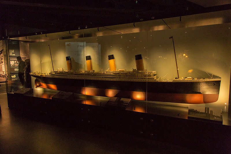Model of the Titanic.