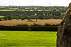 Countryside surrounding Newgrange. Note the manor house or castle in the center of the image.