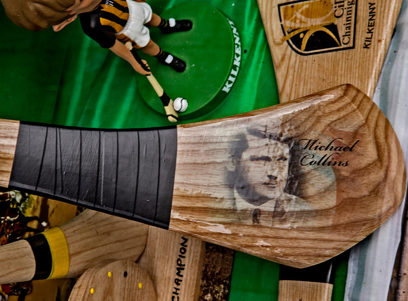This hurling stick commemorates independence hero Michael Collins.