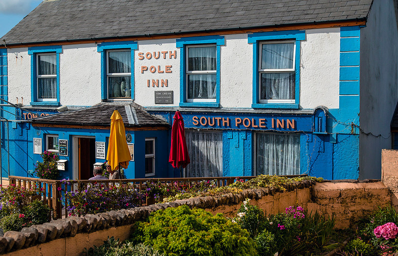 "The small town of Annascaul, was the home of antarctic adventurer Tom Crean. He opened this pub after surviving one of history's most amazing antarctic adventures. Because he never reached the South Pole, he gave his pub this name so that he could go to work ""at the South Pole"" every day."