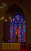 Modern stained glass window in St. Mary's church, Kilkenny.