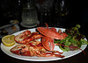 """Back in Kenmare we enjoy this lobster dinner at the """"Tom Crean"""" restaurant, owned by his granddaughter."""