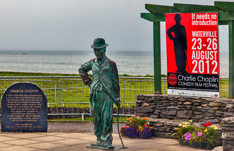 In the 1960 and '70s Charlie Chaplin and his family frequently vacationed in Waterville, County Kerry. With the laying of the first trans-atlantic telegraph cable In 1866, Waterville became an important link in the trans-atlantic communication network.