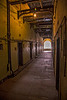 Hallway in the old section of the Kilmainham Gaol,