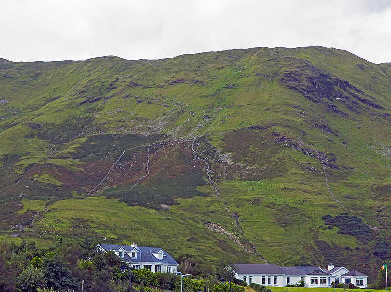 On the hillside, near the town of Leenane, one can see parallel lines that are remnants of furrows in which potatoes were planted during the Great Famine.