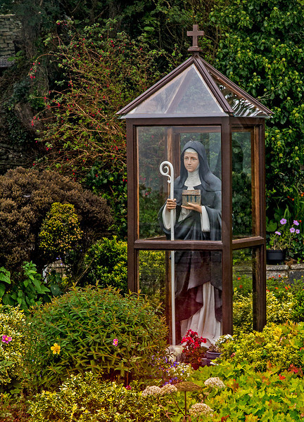 "Saint Bridget roadside shrine. She is considered to be ""protector of the home."""