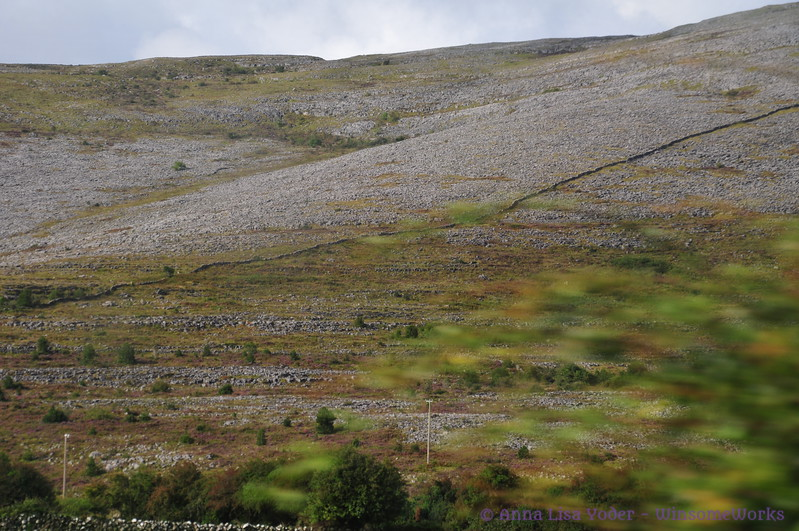 Stone fences on a mountain in The Burren