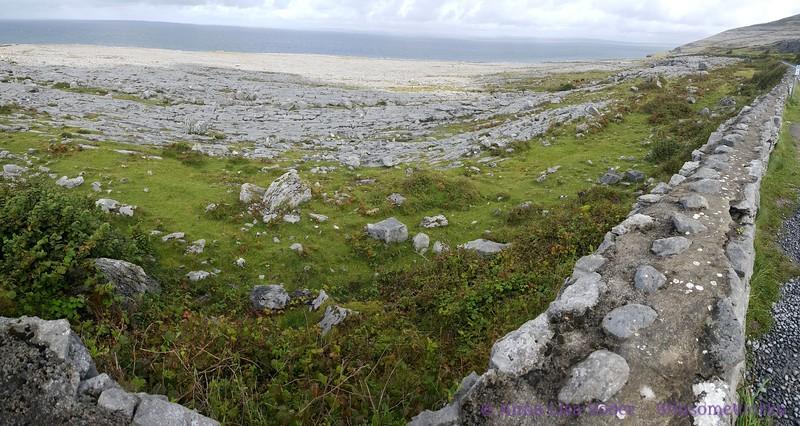 The Burren with Galway Bay in background (en route to Doolin)