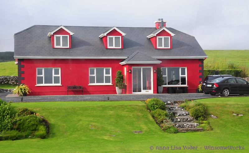 Modern home seen near Lisdoonvarna