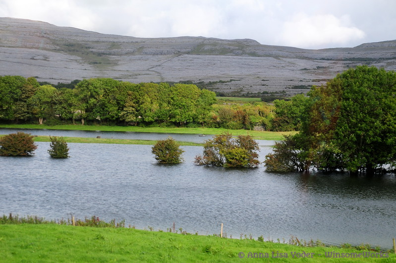 Disappearing lake near Ballyvaughan, County Clare