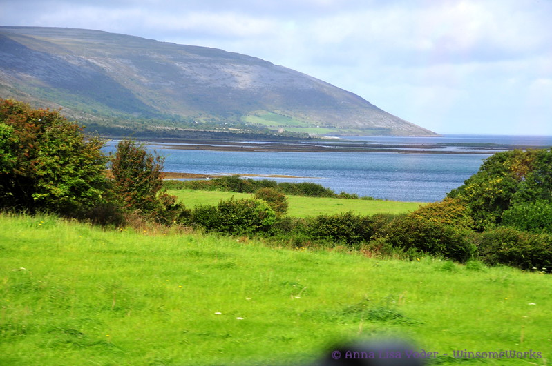 Galway Bay, with one of mountains of The Burren (possibly Oughtmama?)