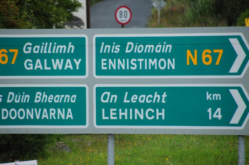 Sign near Lisdoonvarna