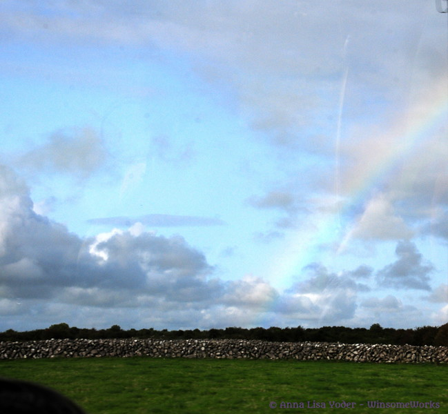 A rainbow appeared just before we got back into Galway