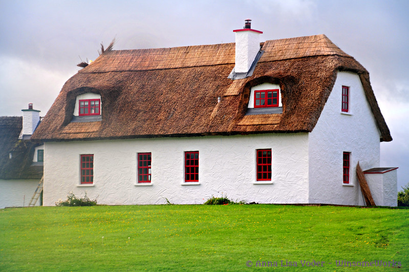 Thatched roof house near Ballyvaughan