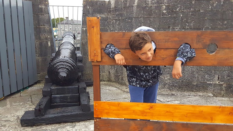 Xavier in stocks at Athlone Castle