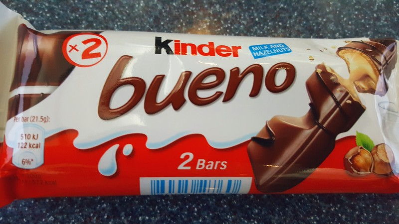 Bueno bar - our favorite chocolate