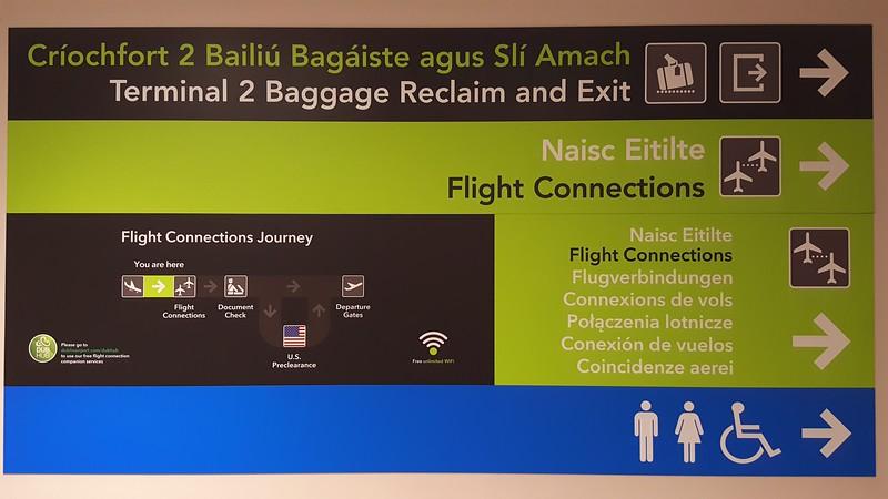 Arrival in Dublin Ireland
