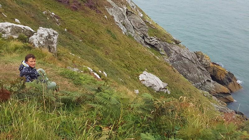Xavier viewing the Irish Sea on Howth Peninsula