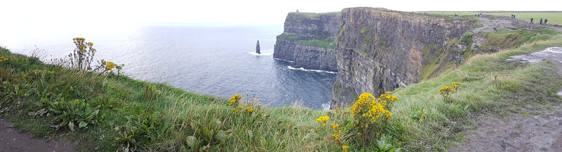 Pano of The Cliffs of Moher, with Branounmore Sea Stack & O'Brien's Tower