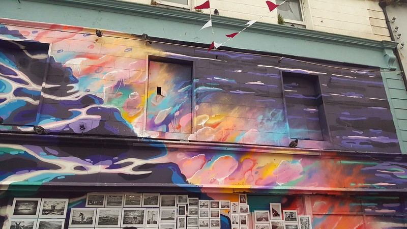 Mural in The Latin Quarter, in Galway City