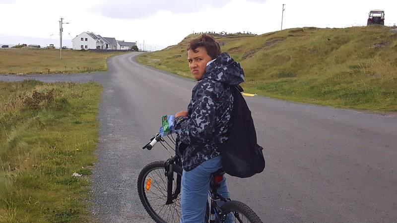 Biking on Inis Oirr (Inisheer)