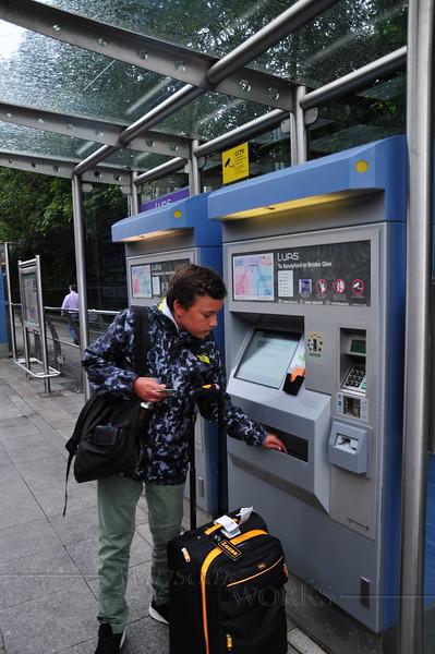 Buying tram tickets