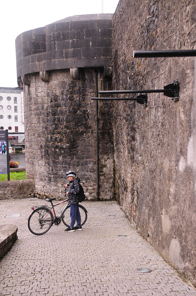 Xavier and bike at Athlone Castle