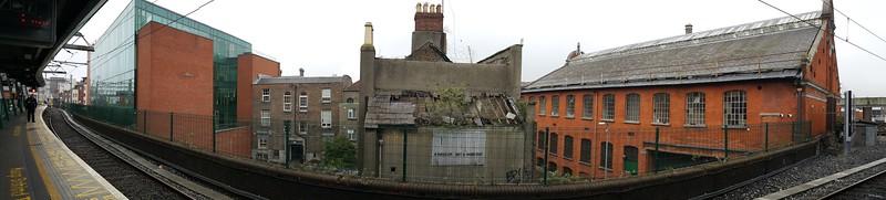 Scene across from one of the DART stations - Dublin