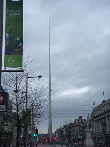 The Spire of Dublin on O'Connell Street