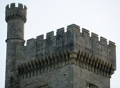 The turret of the Lismore Castle, Lismore, Ireland.