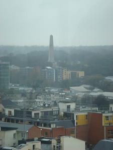 The tour ends with a tasting on the seventh floor with a panoramic view of Dublin; here is the Wellington Monument seen from there.