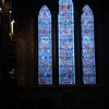 Stained glass window in St. Patrick's Cathedral