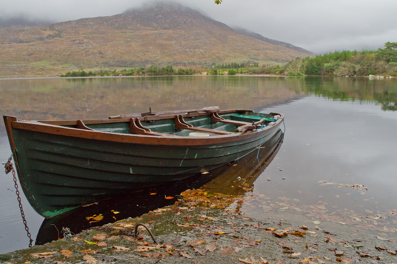 Boat on Ballynahinch Lake, Co. Galway Ireland